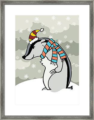 Doctor Derby Winter Framed Print by Christy Beckwith
