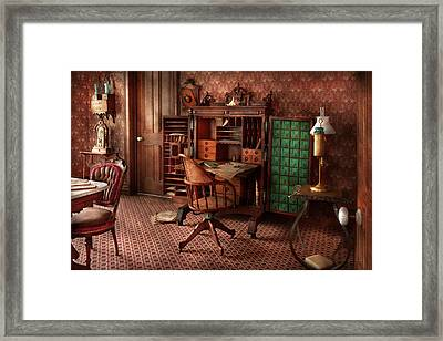 Doctor - Desk - The Physician's Office  Framed Print by Mike Savad