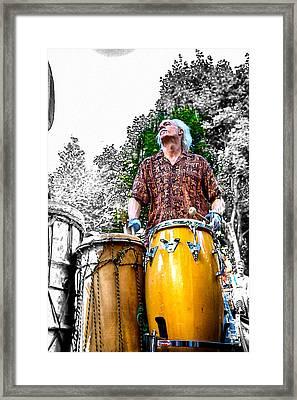 Doctor Drum Framed Print by John Haldane