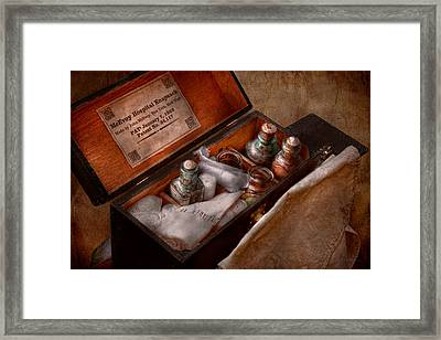 Doctor - Hospital Knapsack  Framed Print by Mike Savad