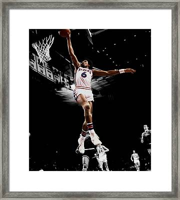Doctor J Framed Print by Brian Reaves