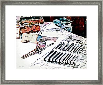 Framed Print featuring the photograph Doctor - Medical Instruments by Susan Savad