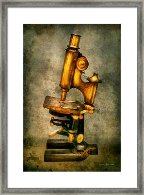 Doctor - Microscope - The Start Of Modern Science Framed Print by Mike Savad
