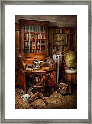 Doctor - My Tiny Little Office Framed Print by Mike Savad
