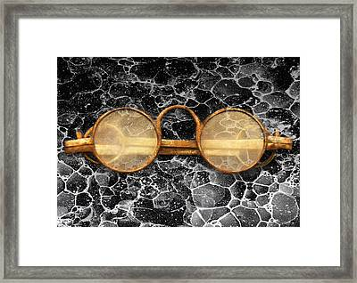 Doctor - Optometrist - Glasses Sold Here  Framed Print by Mike Savad