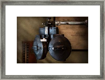 Doctor - Optometry - An Old Phoropter  Framed Print