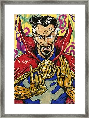 Doctor Strange Framed Print by John Ashton Golden