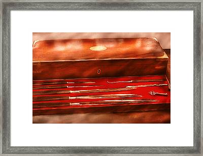 Doctor - Surgeon In A Box Framed Print by Mike Savad
