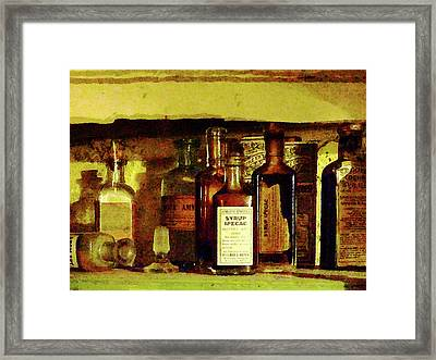 Doctor - Syrup Of Ipecac Framed Print by Susan Savad