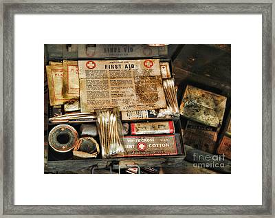 Doctor - The First Aid Kit Framed Print by Paul Ward