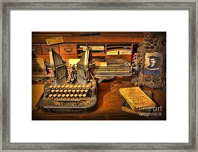 Doctor - The Physician's Desk  Framed Print by Lee Dos Santos