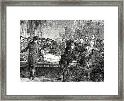 Doctor Ure Galvanizing The Body Of The Assassin Clysdale Framed Print by English School
