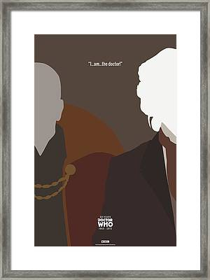 Doctor Who 50th Anniversary Poster Set Eighth Doctor Framed Print