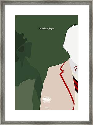 Doctor Who 50th Anniversary Poster Set Fifth Doctor Framed Print