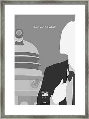 Doctor Who 50th Anniversary Poster Set First Doctor Framed Print by Jeff Bell