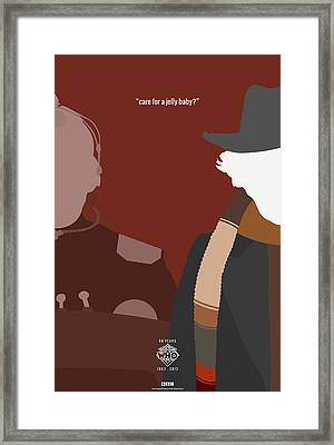Doctor Who 50th Anniversary Poster Set Fourth Doctor Framed Print