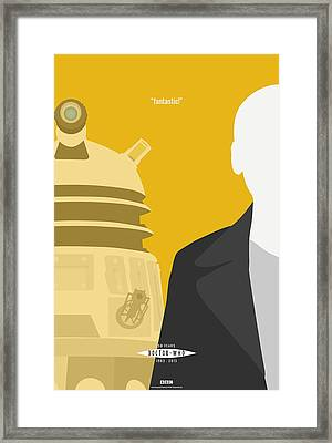 Doctor Who 50th Anniversary Poster Set Nineth Doctor Framed Print