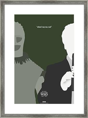 Doctor Who 50th Anniversary Poster Set Second Doctor Framed Print by Jeff Bell