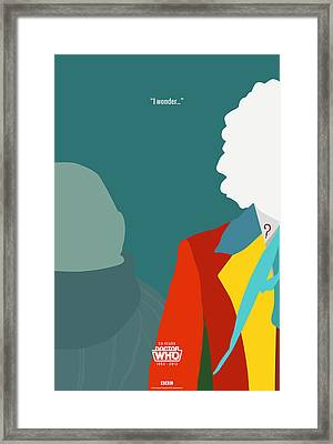 Doctor Who 50th Anniversary Poster Set Sixth Doctor Framed Print by Jeff Bell