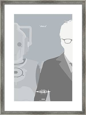 Doctor Who 50th Anniversary Poster Set Tenth Doctor Framed Print