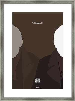 Doctor Who 50th Anniversary Poster Set The War Doctor Framed Print