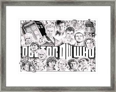 Doctor Who Framed Print by David Horton