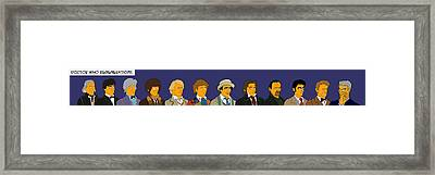 Framed Print featuring the digital art Doctor Who Full 12 Series by Donna Huntriss