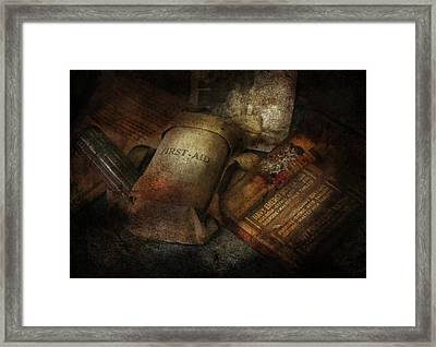 Doctor - Wwii Emergency Med Kit Framed Print by Mike Savad