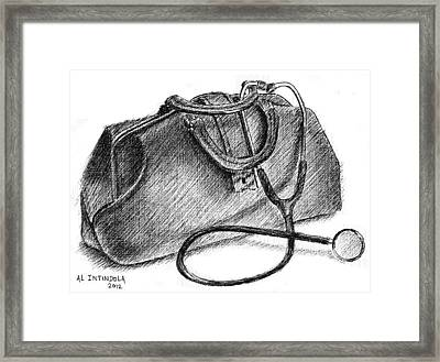 Doctors Bag Framed Print