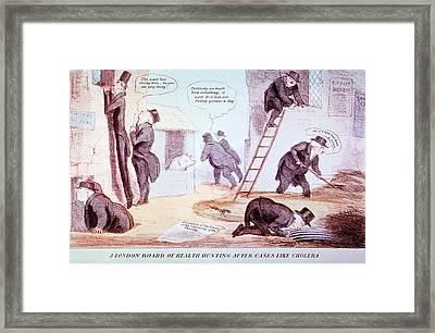 Doctors Investigating Cholera Framed Print