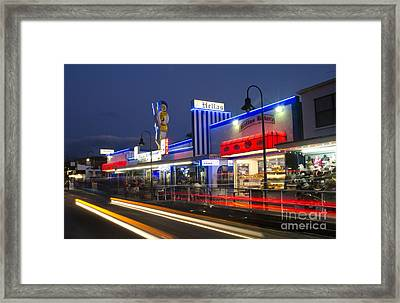 Dodecanese Boulevard At Night, Florida Framed Print