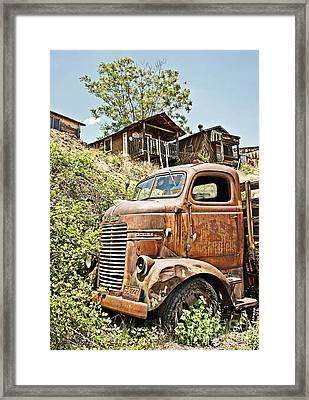 Dodge At The Mining Camp Framed Print