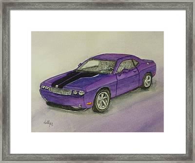 Dodge Challenger 2010 Framed Print by Kelly Mills