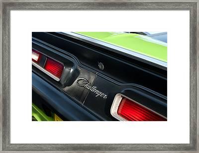 Dodge Challenger 440 Magnum Rt Taillight Emblem Framed Print by Jill Reger