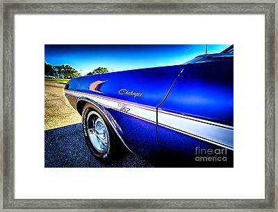 Dodge Challenger At Car Show Framed Print