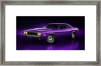 Dodge Challenger Hemi - Shadow Framed Print