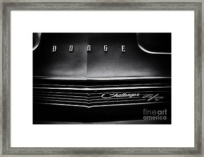 Dodge Challenger R/t Framed Print by Tim Gainey
