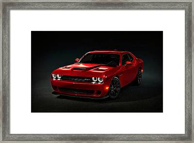 Dodge Challenger S R T Hellcat Framed Print by Movie Poster Prints