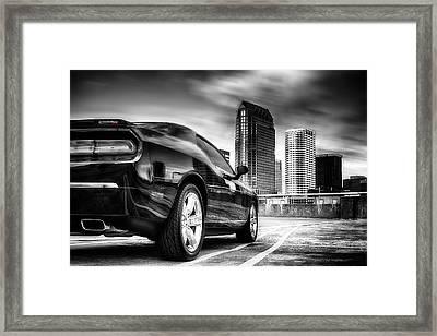 Dodge Challenger Tampa Skyline  Framed Print