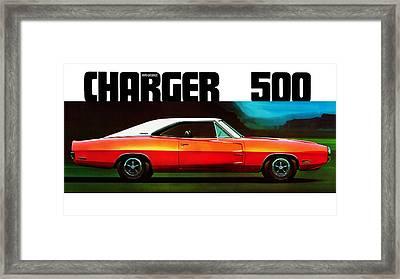 Dodge Charger 500 Framed Print by Mark Rogan