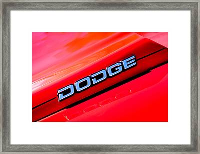 Dodge Charger Emblem Framed Print