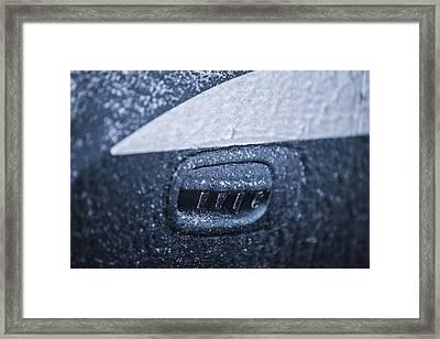 Dodge Charger Frozen Car Handle Framed Print
