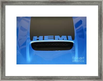 Dodge Charger Hemi Framed Print by Paul Ward