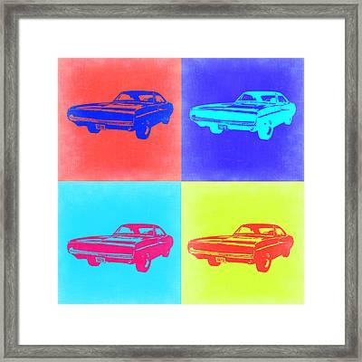 Dodge Charger Pop Art 1 Framed Print