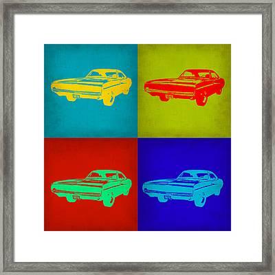 Dodge Charger Pop Art 2 Framed Print