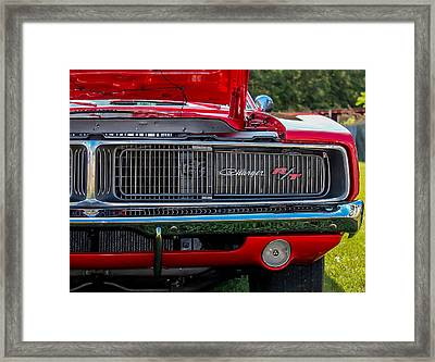 Framed Print featuring the photograph Dodge Charger Rt Classic  by Trace Kittrell