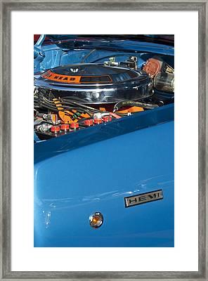 Dodge Coronet 426 Hemi Head Engine Framed Print