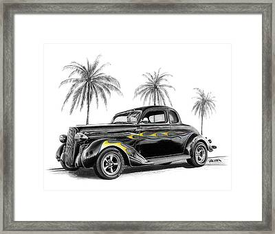 Dodge Coupe Framed Print by Peter Piatt