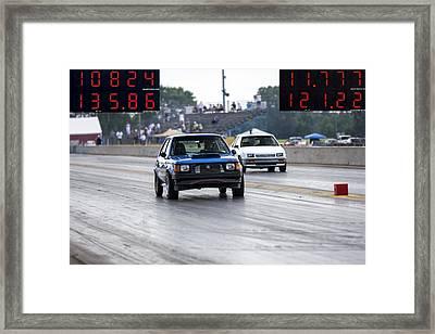 Dodge Omni Glh Vs Rwd Dodge Shadow Framed Print