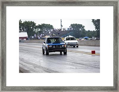 Dodge Omni Glh Vs Rwd Dodge Shadow - Without Times Framed Print
